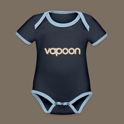 Vapoon Logo simpel 2 Farb - Baby Bio-Kurzarm-Kontrastbody