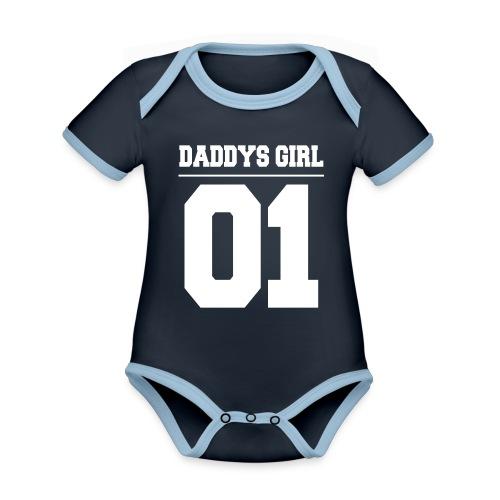 Daddys Girl 01 - Baby Bio-Kurzarm-Kontrastbody