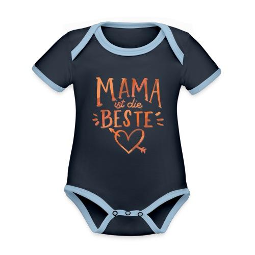 Mama Ist Die Beste - Baby Bio-Kurzarm-Kontrastbody