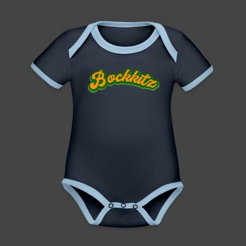 bockkitz - Baby Bio-Kurzarm-Kontrastbody