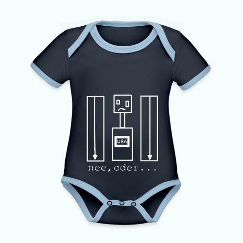 usa ... nee, oder - Baby Bio-Kurzarm-Kontrastbody