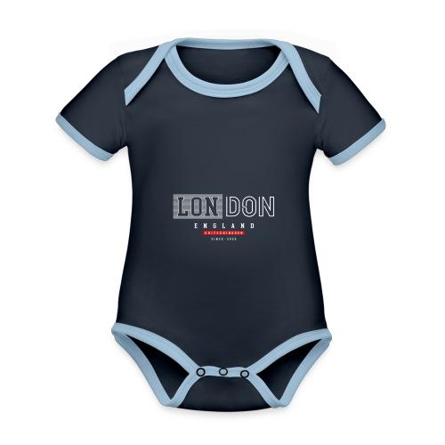 London England United Kingdom - Baby Bio-Kurzarm-Kontrastbody