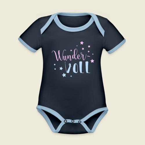 Wunder-VOLL Voller Wunder wundervoll - Baby Bio-Kurzarm-Kontrastbody