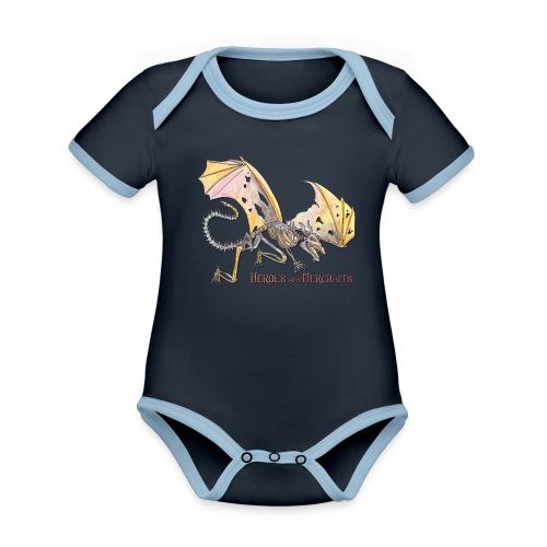 Bonedragon - Baby Bio-Kurzarm-Kontrastbody