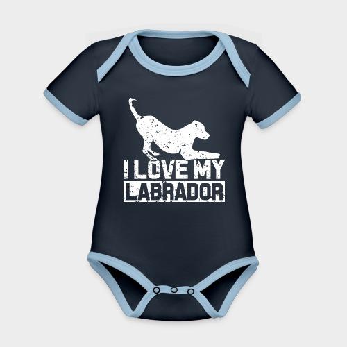 I LOVE MY LABRADOR - Baby Bio-Kurzarm-Kontrastbody