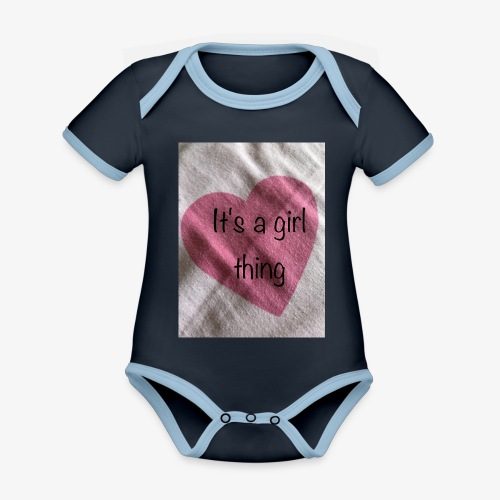 It's a girl thing! - Organic Baby Contrasting Bodysuit