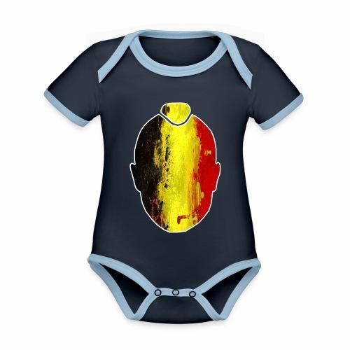 Ninja #ALLFORRADJA - Baby contrasterend bio-rompertje met korte mouwen