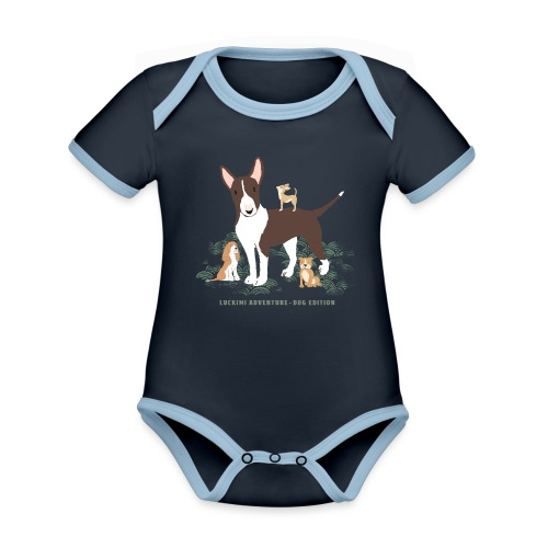 Dog edition - Kids - Organic Baby Contrasting Bodysuit