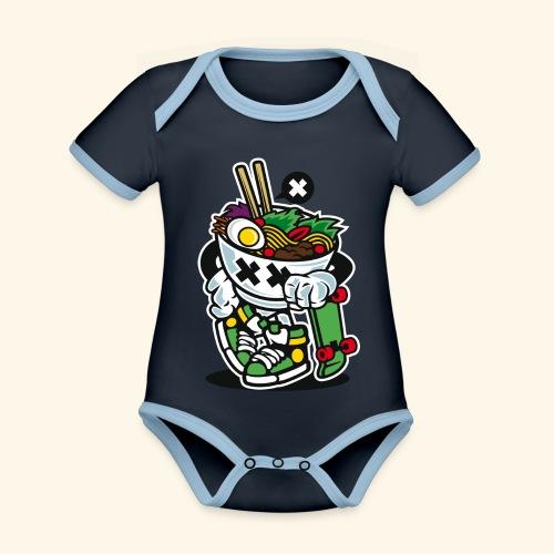 Ramen Style - Baby Bio-Kurzarm-Kontrastbody