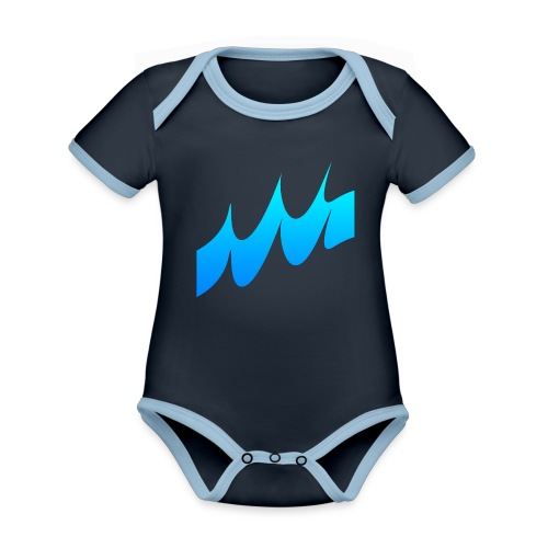 Ocean Waves or just Deep - Organic Baby Contrasting Bodysuit
