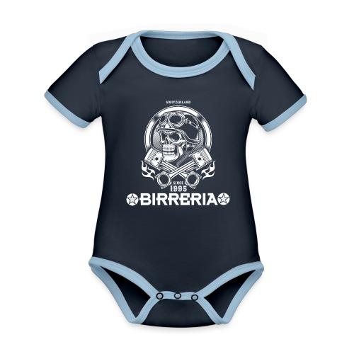 Biker Skull Piston - Baby Bio-Kurzarm-Kontrastbody