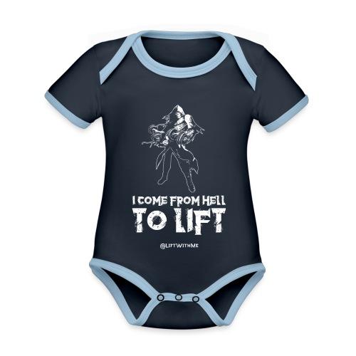 Lift With Me - I Come From Hell To Lift - Body da neonato a manica corta, ecologico e in contrasto cromatico