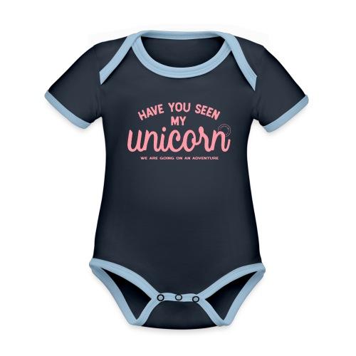 Unicorn pink - Organic Baby Contrasting Bodysuit