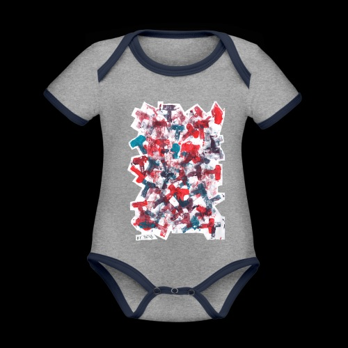 Color T BY TAiTO - Vauvan kontrastivärinen, lyhythihainen luomu-body