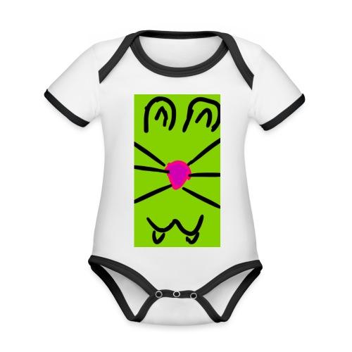 Gato :3 - Body contraste para bebé de tejido orgánico
