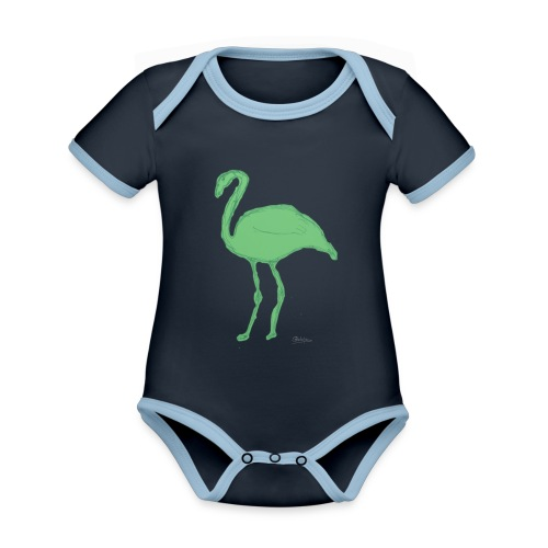 flamenco - Body contraste para bebé de tejido orgánico