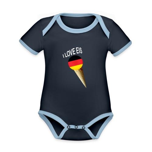 Fußball WM Geschenk Fan Weltmeister Deutschland - Baby Bio-Kurzarm-Kontrastbody