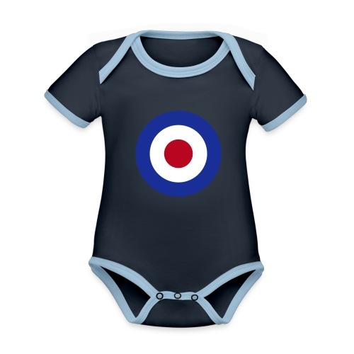 Mod Target United Kingdom Großbritannien - Baby Bio-Kurzarm-Kontrastbody