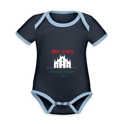 MILANO NEVER STOPS T-SHIRT - Organic Baby Contrasting Bodysuit
