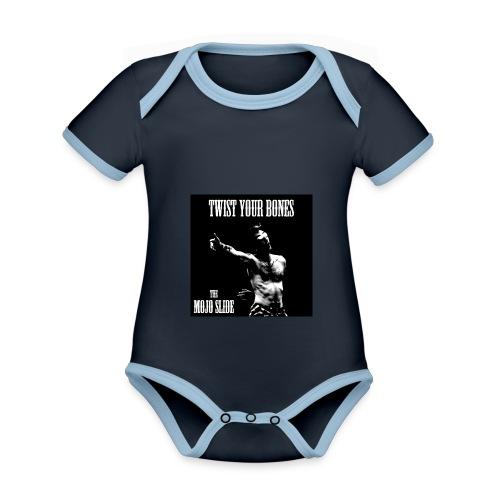 Twist Your Bones - Design 1 - Organic Baby Contrasting Bodysuit