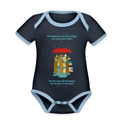 Erdmännchen - Baby Bio-Kurzarm-Kontrastbody