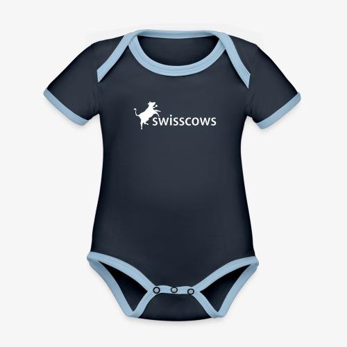 Swisscows - Logo - Baby Bio-Kurzarm-Kontrastbody
