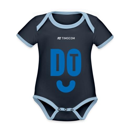 do IT - Kortærmet økologisk babybody i kontrastfarver
