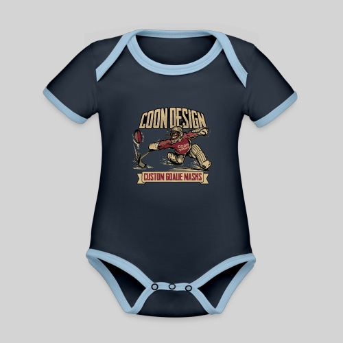 CoonDesign - Goalie - Baby Bio-Kurzarm-Kontrastbody