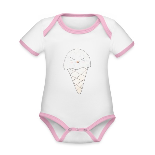 Kids for Kids: Icream 2 - Baby Bio-Kurzarm-Kontrastbody