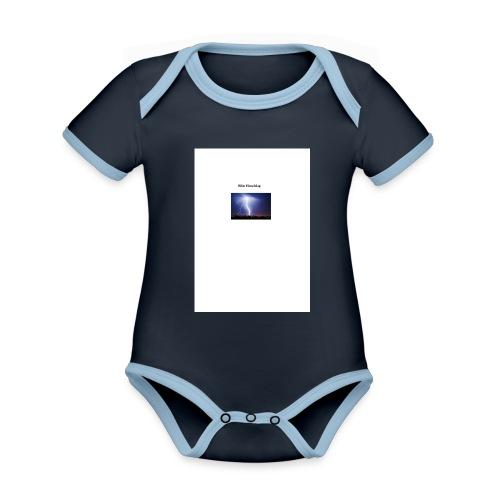 Blitz Einschlag - Baby Bio-Kurzarm-Kontrastbody