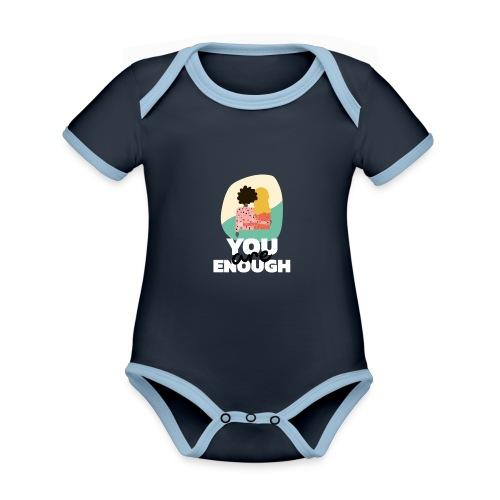 t shirt design template featuring two women suppor - Body contraste para bebé de tejido orgánico