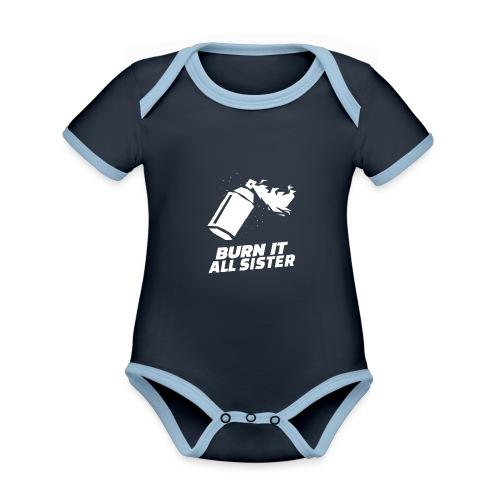 feminist themed t shirt design maker featuring - Body contraste para bebé de tejido orgánico