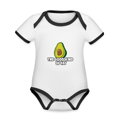 Avocado: The Good Kind of Fat - Organic Baby Contrasting Bodysuit