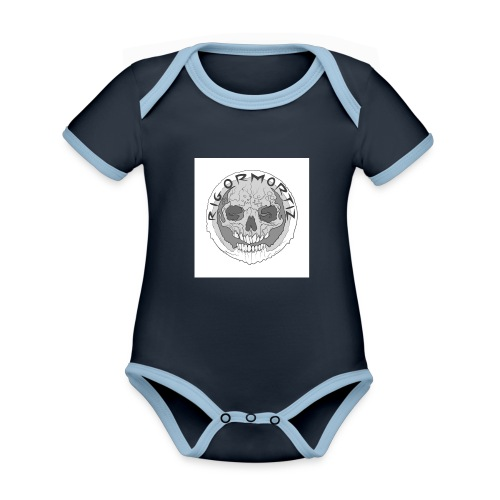 RIGORMORTIZ BOLD LOGO - Organic Baby Contrasting Bodysuit