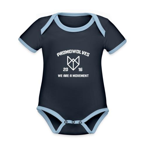 Promowolves finest png - Baby contrasterend bio-rompertje met korte mouwen