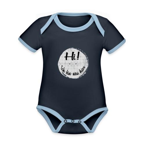 Hi! Ich bin neu hier - Baby Bio-Kurzarm-Kontrastbody
