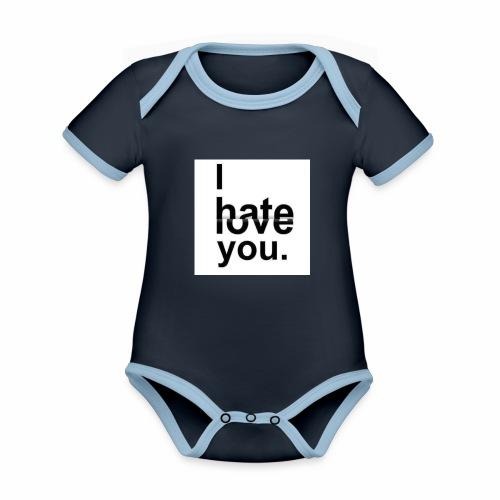 love hate - Organic Baby Contrasting Bodysuit