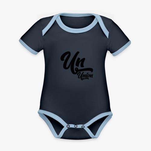 Union - Body Bébé bio contrasté manches courtes