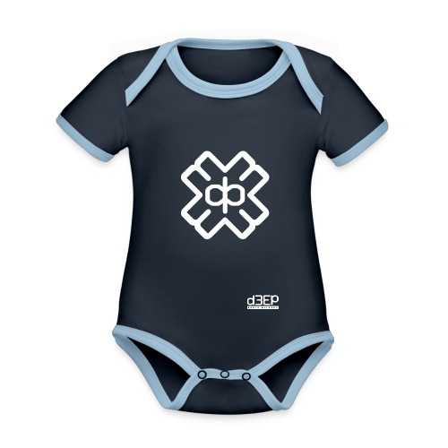 July D3EP Blue Tee - Organic Baby Contrasting Bodysuit