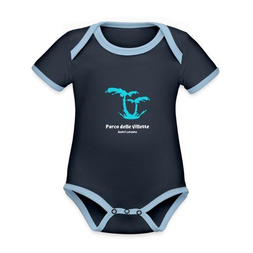 LOGO PARCO DELLE VILLETTE - Body da neonato a manica corta, ecologico e in contrasto cromatico