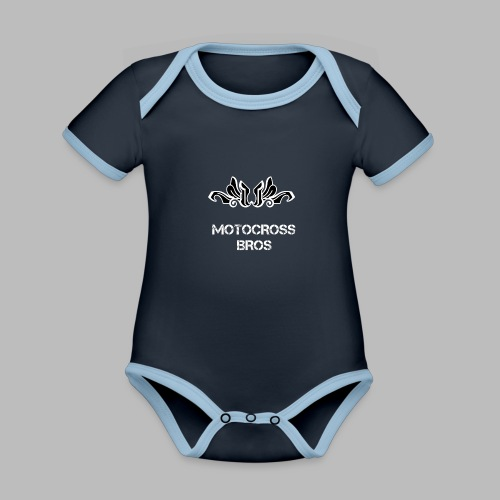 Motocrossbros - Ekologisk kontrastfärgad kortärmad babybody