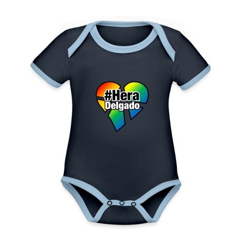 #HeraDelgado - Baby Bio-Kurzarm-Kontrastbody