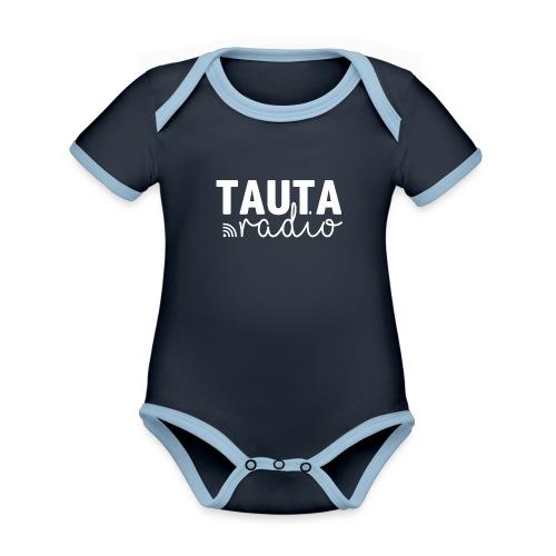 Radio Tauta Logo - Organic Baby Contrasting Bodysuit