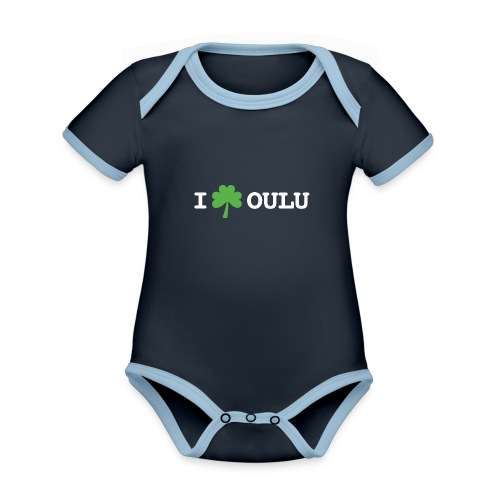 I shamrock Oulu - Classic Model - Vauvan kontrastivärinen, lyhythihainen luomu-body