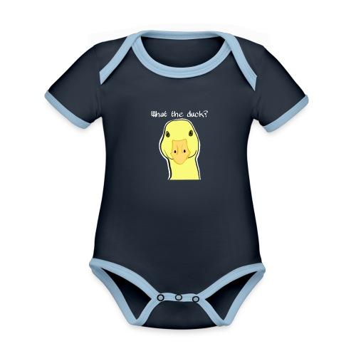 Duck you - Vauvan kontrastivärinen, lyhythihainen luomu-body