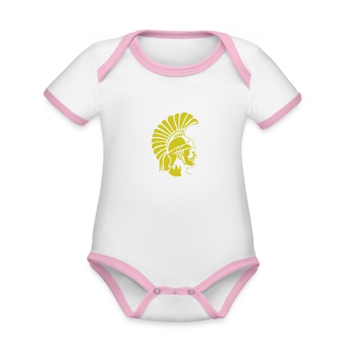 Topeka High School merch - Organic Baby Contrasting Bodysuit