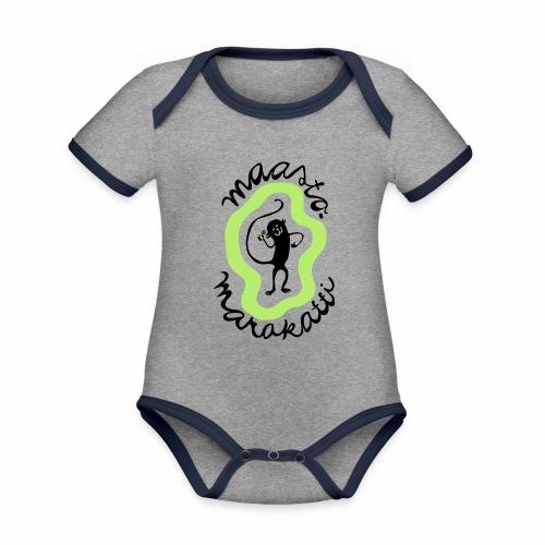 Maastomarakatti - Vauvan kontrastivärinen, lyhythihainen luomu-body
