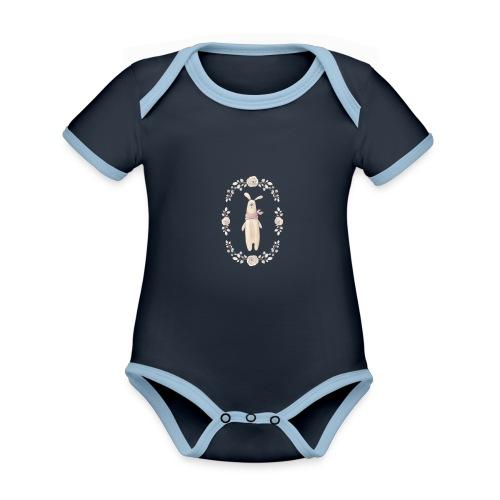 Orsetto - Body da neonato a manica corta, ecologico e in contrasto cromatico