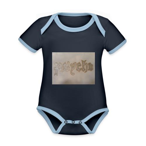 Simon Psycho Artist - Baby contrasterend bio-rompertje met korte mouwen