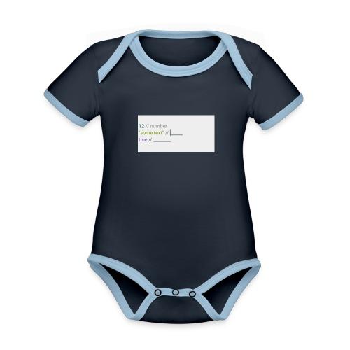 code - Body Bébé bio contrasté manches courtes